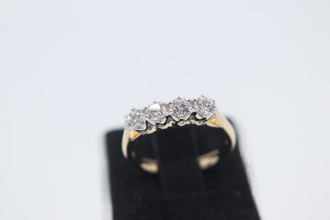 9ct Solid Gold CZ Dress ring