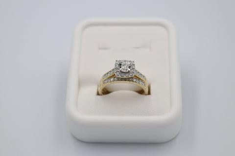 10K White Gold Diamond  Set ring with 0.50 carat of Diamonds with Eternity