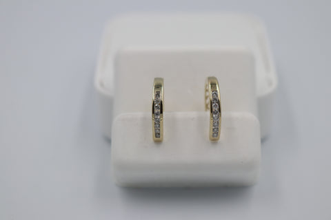 10K Gold Diamond huggies TDW 0.15 ct