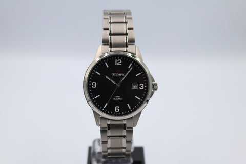 Olympic Titanium Gents Black Dial 50M 26537