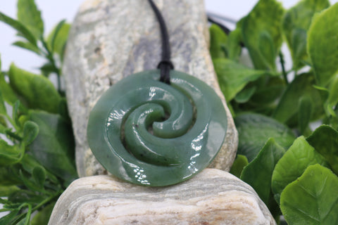 New Zealand Greenstone Double Koru