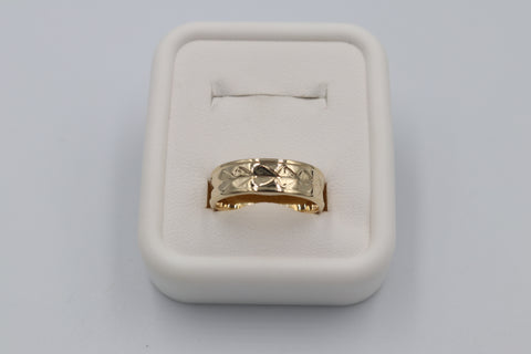 9ct Gold Wedding Band 6mm wide
