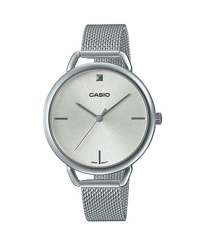 Casio Ladies Steel mesh  Strap Watch LTP-E415M-7C
