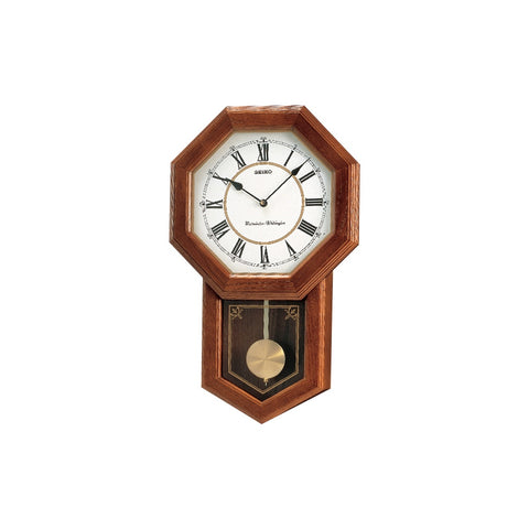 Seiko Pendulum  Chiming Wall Clock QXH110-B