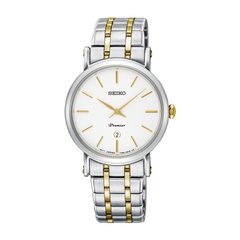 Seiko Premier Ladies Two Tone Watch - SXB438P1