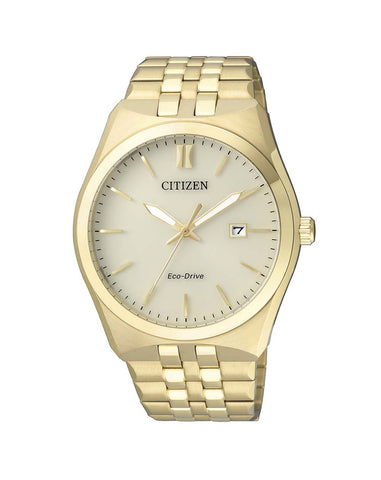Citizen Mens Gold Eco-Drive Watch - BM7332-61P