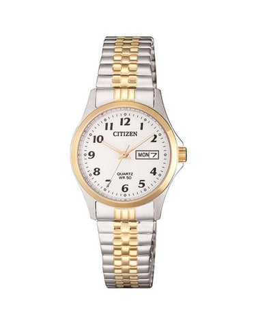 Citizen Ladies two Tone 50m WR EQ2004-95a Expanding Strap