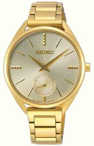 Seiko Ladies Gold Tone Watch - SRKZ50P1
