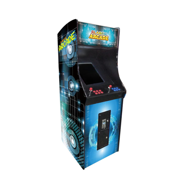 FULL-SIZED UPRIGHT ARCADE GAME 412 CLASSIC GAMES
