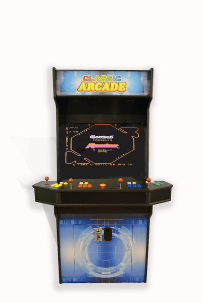 FULL-SIZED UPRIGHT ARCADE GAME 3015 CLASSIC GAMES-4 player panel