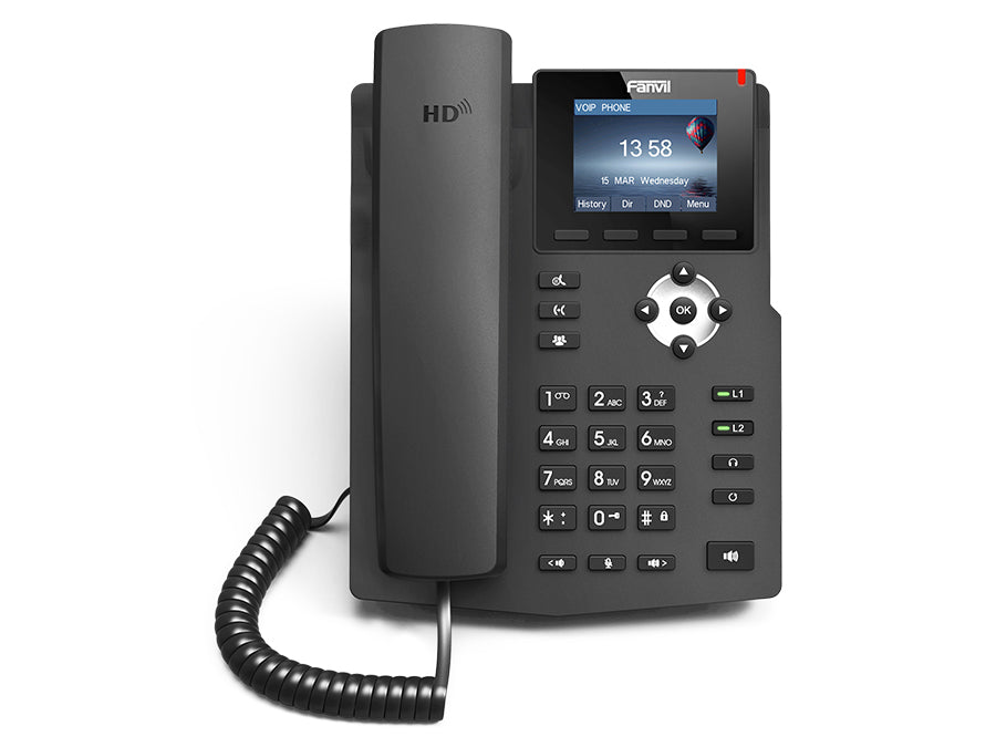 Fanvil 2SIP Colour Screen VoIP Phone with PSU | X3S