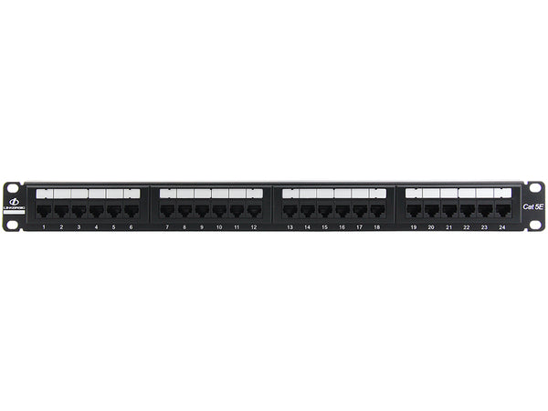 Linkbasic 24 Port Cat5e Rack Mount Patch Panel