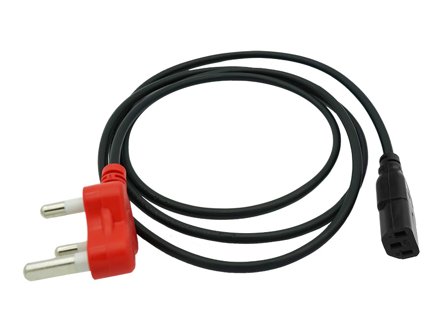 2m IEC Power Cord With Dedicated Plug Top
