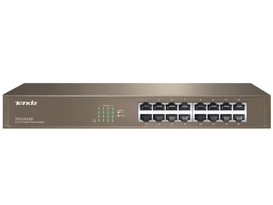 Tenda 16 Port Gigabit Rack Mount Switch | TEG1016D