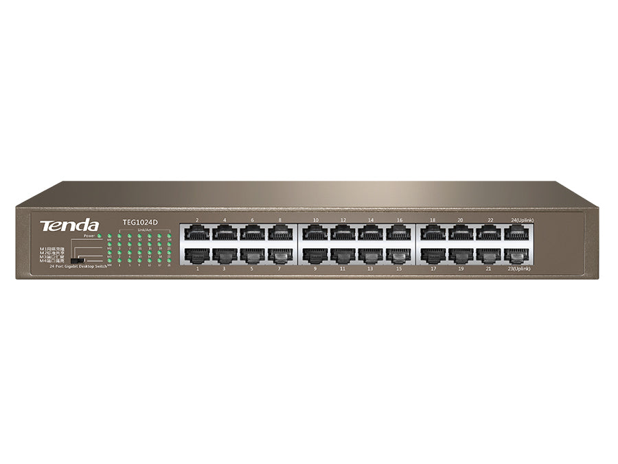 Tenda 24 Port Gigabit Rack Mount Switch | TEG1024D