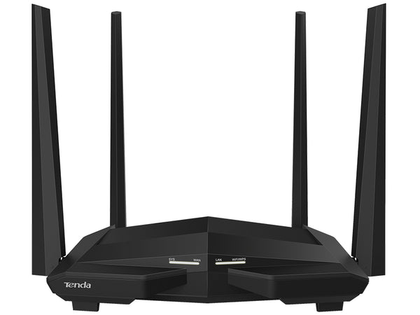 Tenda Dual Band AC 5dBi 4 Port Gigabit Router No USB | AC10