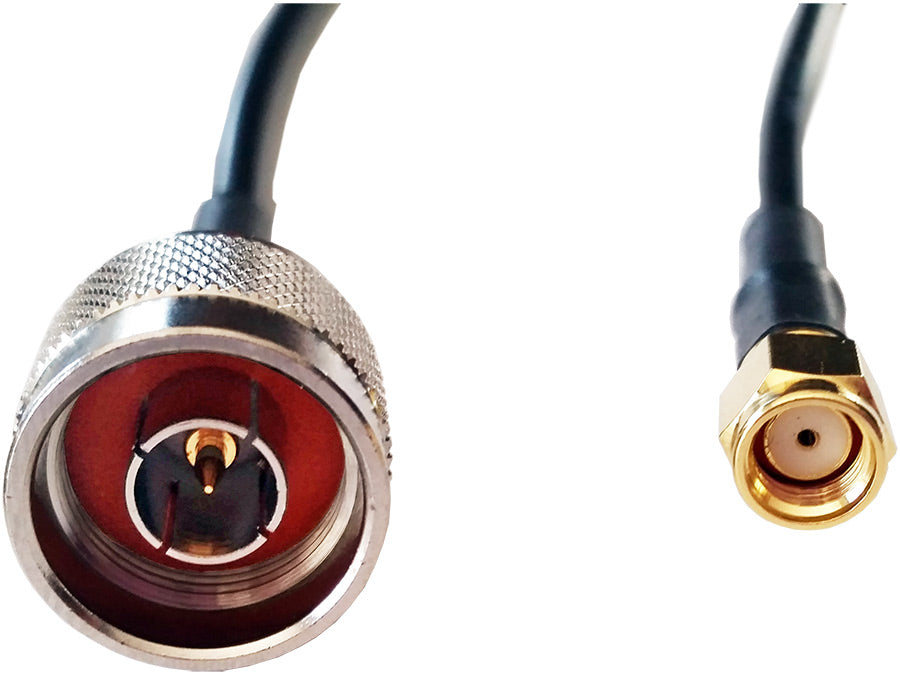 1M SMA R/P to N-Type Male LMR Cable
