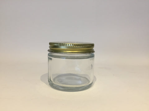 Glass Cream Jar, 2oz