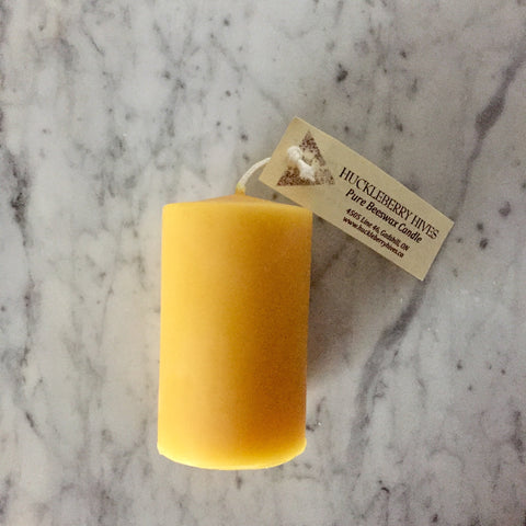 Beeswax Pillar Candle, Smooth