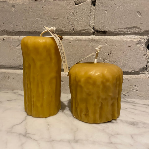 Beeswax Rustic Pillar Candle