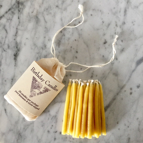 Beeswax Birthday Candles - Set of 20