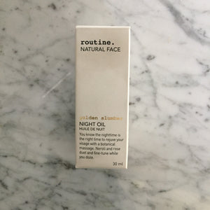 Routine Golden Slumber Face Night Oil
