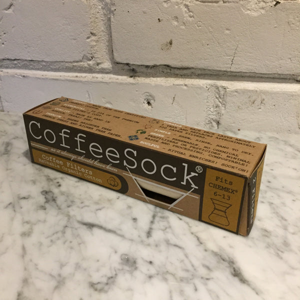 CoffeeSock Reusable Organic Cotton Coffee Filters