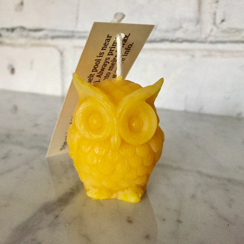 Beeswax Tiny Owl Candle