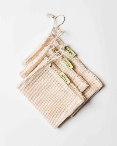 Organic Cotton Mesh Produce Bag - Set of 6 (3M, 3L)