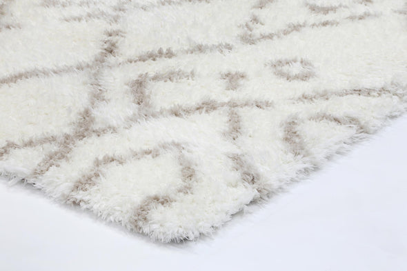 Moroccan Cream and Beige Fes Rug