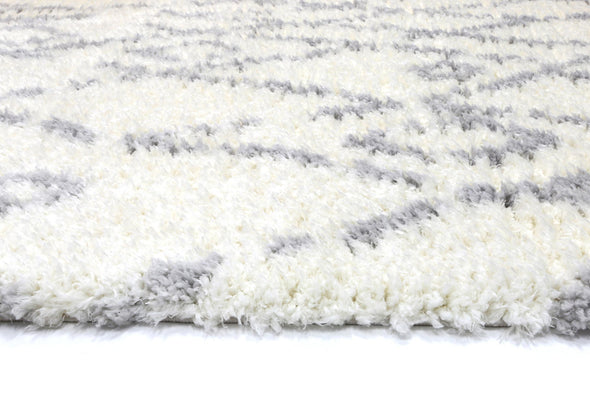 Moroccan Cream and Silver Fes Rug