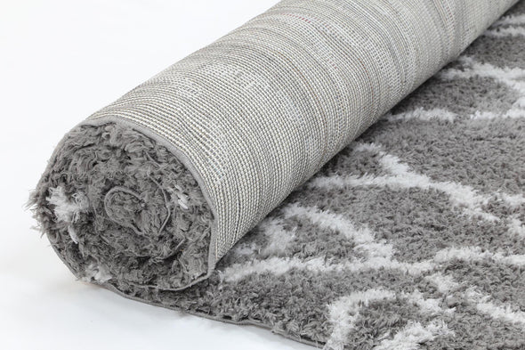 Moroccan Grey and Silver Fes Rug