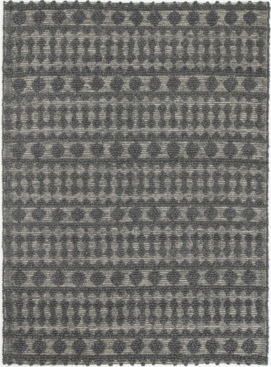 Kaiden Tribal Charcoal Grey Wool Rug