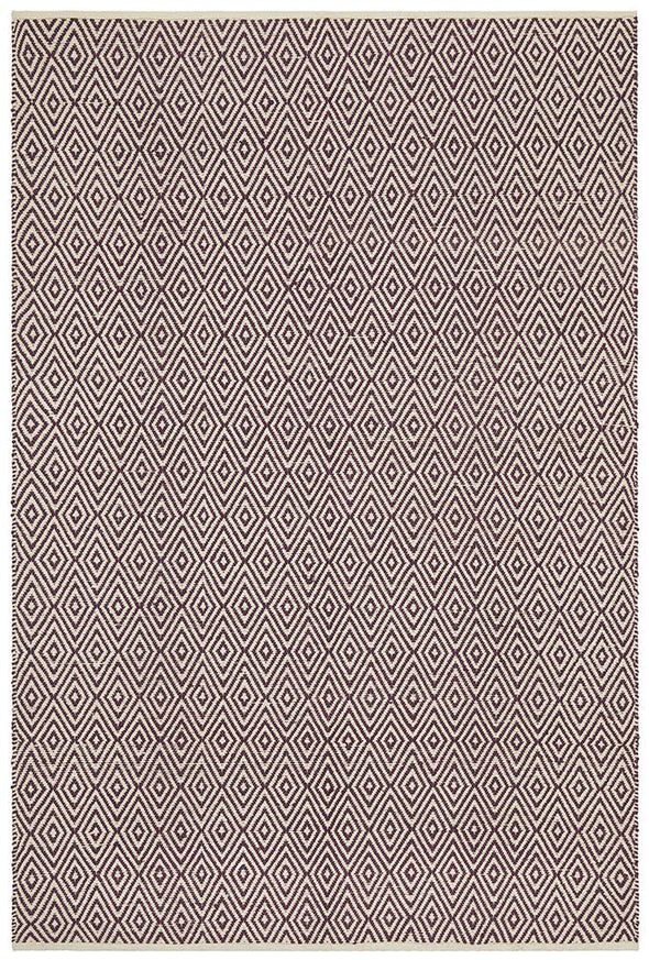 Abode Diamond Design Purple Rug