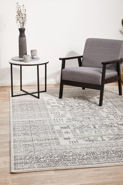 Chrome Addison Silver Rug