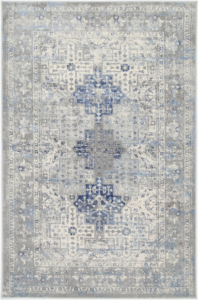 Expressions Navy Blue Oriental Rug