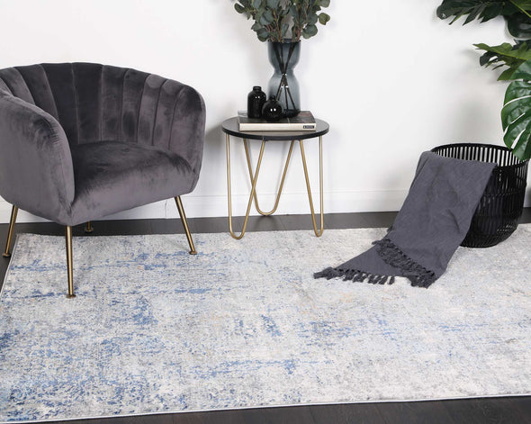 Expressions Navy Blue Modern Rug