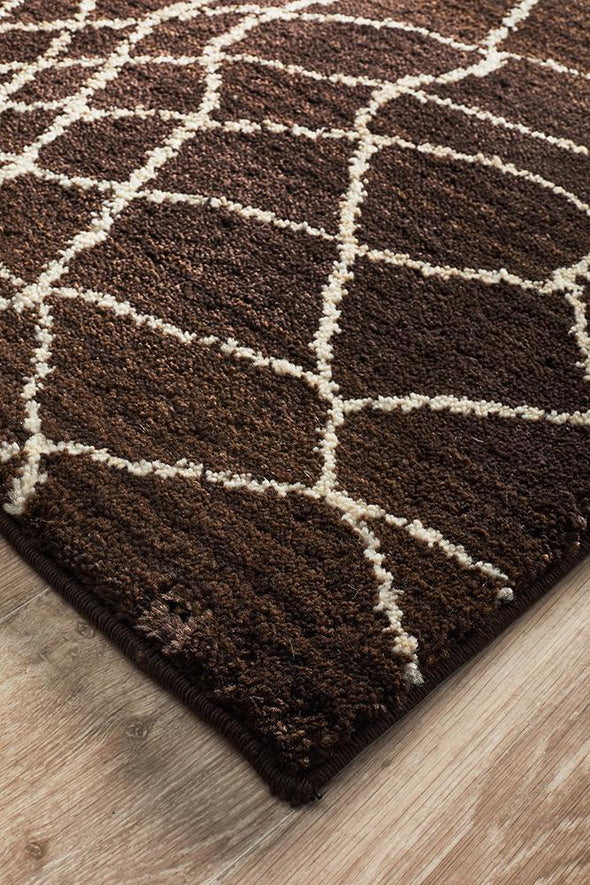 Moroccon Style  Web Design Chocolate Rug
