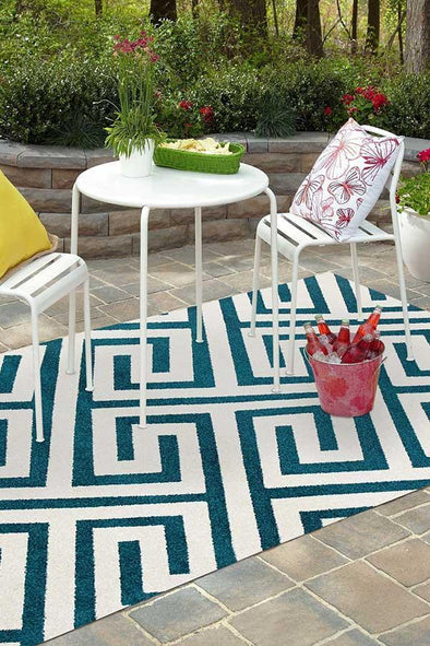Marquee Indoor Outdoor 304 Peacock Rug