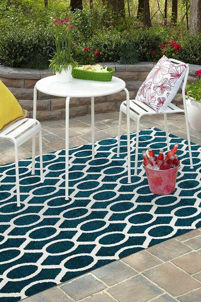 Marquee Indoor Outdoor 313 Peacock Rug