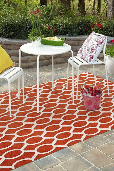 Marquee Indoor Outdoor 313 Rust Rug