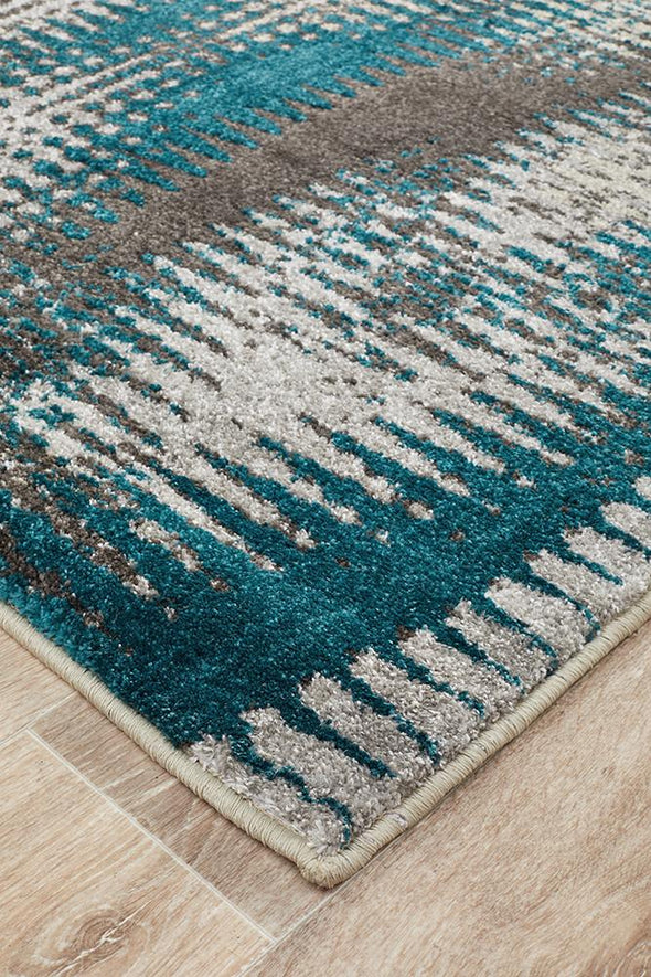 Nitro Hannah Matrix Rug Blue Grey