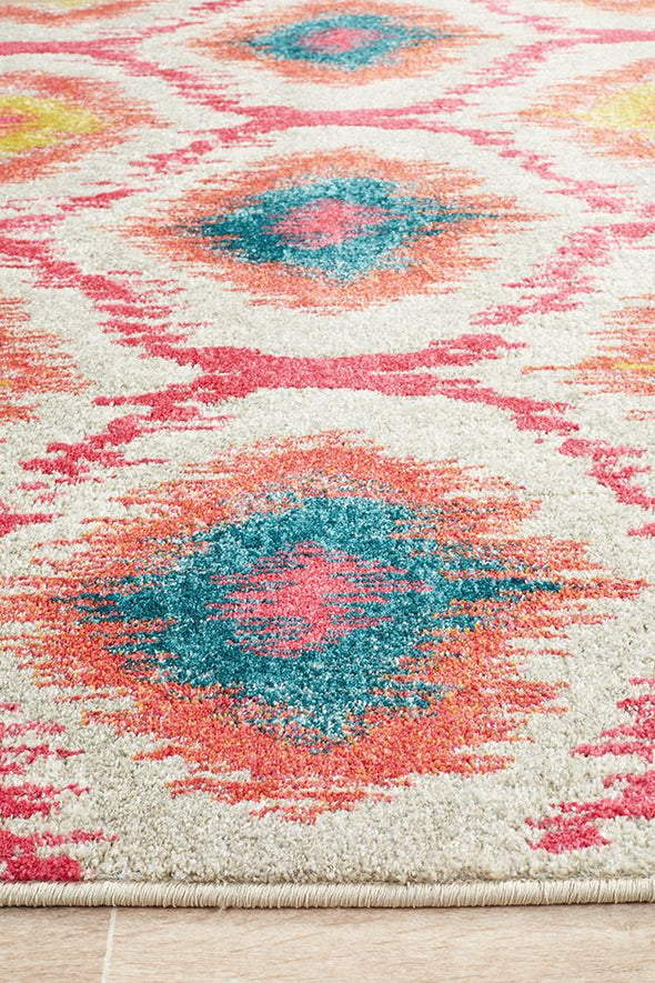 Nitro Gypsy Heirloom Rug Pink Yellow Grey