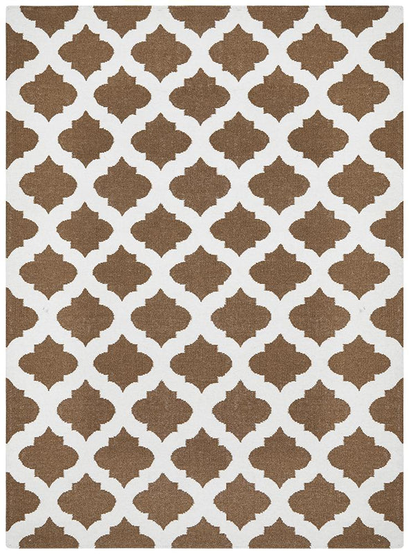 Nomad Pure Wool Flatweave 15 Brown Ivory Rug