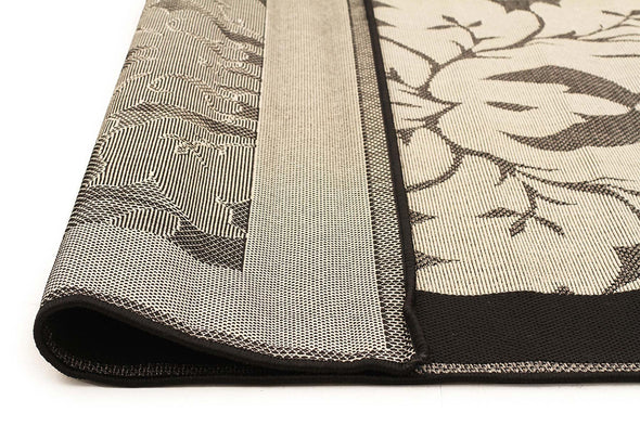 Pavilion Indoor Outdoor 3588 Grey Black Rug
