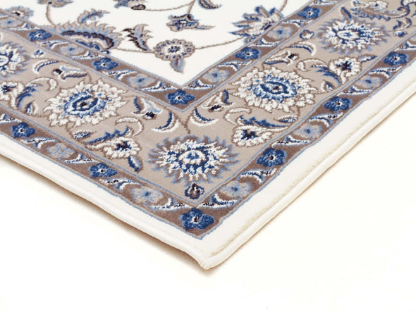 Sydney Classic Runner White With Beige Border Runner Rug
