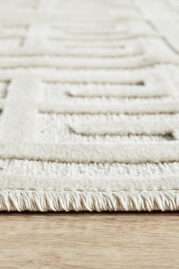 York Brenda Natural White Runner Rug