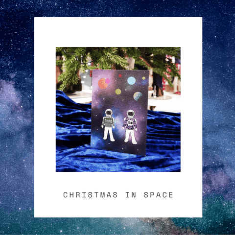 Christmas in Space Card