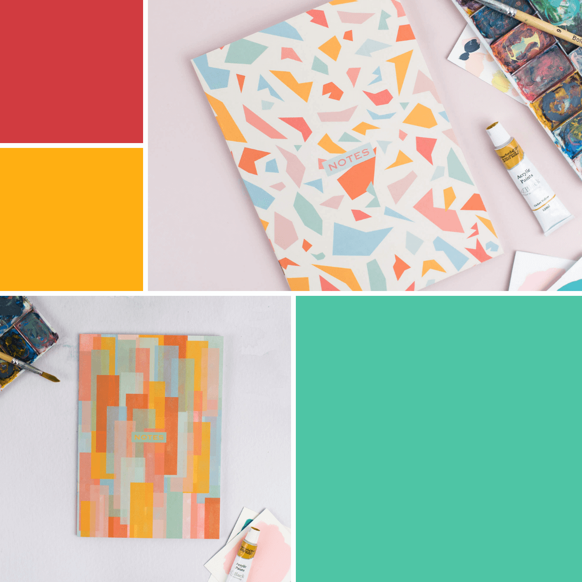 Colourful Patterned Notebooks