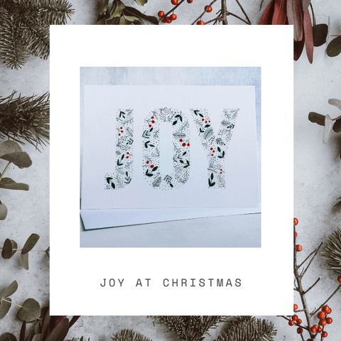 Joy At Christmas Card